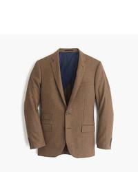 Blazer di lana con motivo pied de poule marrone