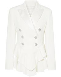 Blazer di lana decorato bianco di Alessandra Rich
