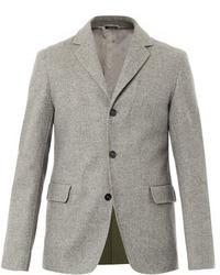 Blazer di lana grigio