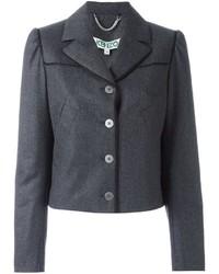 Blazer di lana grigio scuro di Kenzo
