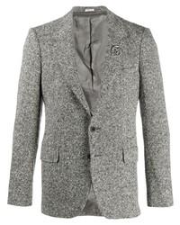 Blazer di lana grigio di Alexander McQueen