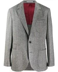 Blazer di lana grigio di Brunello Cucinelli
