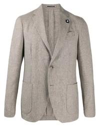 Blazer di lana grigio di Lardini
