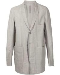 Blazer di lana grigio di Rick Owens