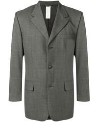 Blazer di lana grigio di Versace Pre-Owned