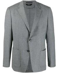 Blazer di lana grigio di Z Zegna