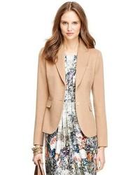 Blazer di lana marrone chiaro