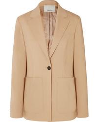 Blazer di lana marrone chiaro di 3.1 Phillip Lim