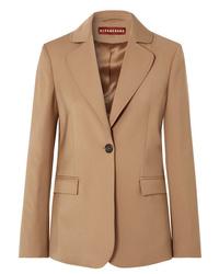 Blazer di lana marrone chiaro di ALEXACHUNG