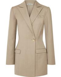 Blazer di lana marrone chiaro di Anna Quan