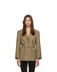 Blazer di lana marrone chiaro di Low Classic