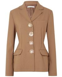 Blazer di lana marrone chiaro di Rejina Pyo