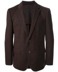 Blazer di lana marrone scuro