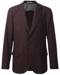 Blazer di lana marrone scuro di Brunello Cucinelli