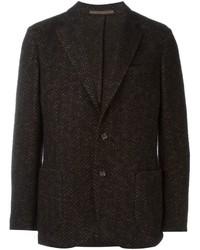 Blazer di lana marrone scuro di Eleventy