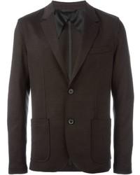 Blazer di lana marrone scuro di Lanvin