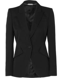 Blazer di lana nero di Alexander McQueen