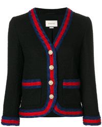 Blazer di lana nero di Gucci