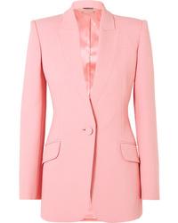 Blazer di lana rosa di Alexander McQueen