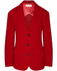 Blazer di lana rosso