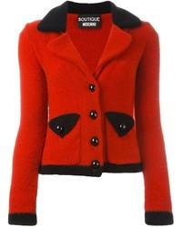 Blazer di lana rosso di Moschino