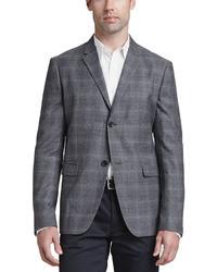 Blazer di lana scozzese grigio scuro