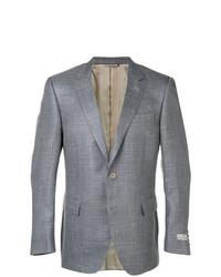 Blazer di lana scozzese grigio di Canali