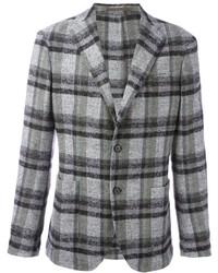 Blazer di lana scozzese grigio di Eleventy