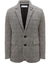 Blazer di lana scozzese grigio di JW Anderson