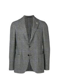 Blazer di lana scozzese grigio di Lardini