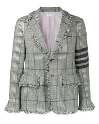 Blazer di lana scozzese grigio di Thom Browne