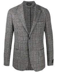 Blazer di lana scozzese grigio di Z Zegna