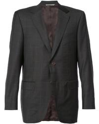 Blazer di lana scozzese marrone scuro di Canali