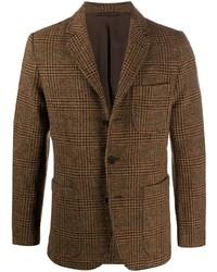 Blazer di lana scozzese marrone di Aspesi