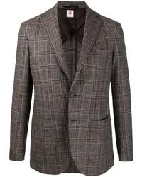 Blazer di lana scozzese marrone di Borrelli