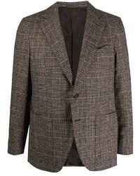 Blazer di lana scozzese marrone di Caruso