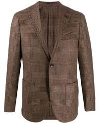 Blazer di lana scozzese marrone di Lardini