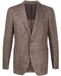 Blazer di lana scozzese marrone di Tagliatore