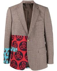 Blazer di lana scozzese marrone di Walter Van Beirendonck Pre-Owned