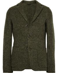 Blazer di lana verde oliva