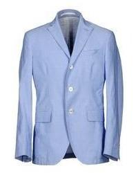 Blazer di lino azzurro