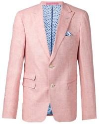 Blazer di lino rosa