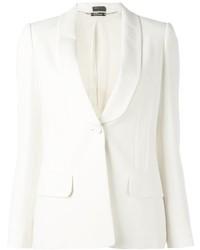 Blazer di seta bianco di Alexander McQueen
