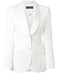 Blazer di seta bianco di Dolce & Gabbana