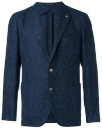 Blazer di tweed blu scuro