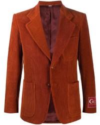 Blazer di velluto a coste terracotta di Gucci