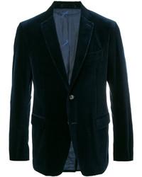 Blazer di velluto blu scuro di Salvatore Ferragamo