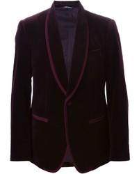 Blazer di velluto bordeaux di Dolce & Gabbana