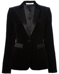Blazer di velluto nero