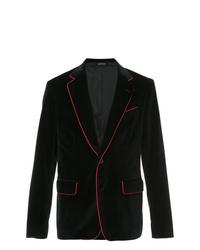 Blazer di velluto nero di Alexander McQueen